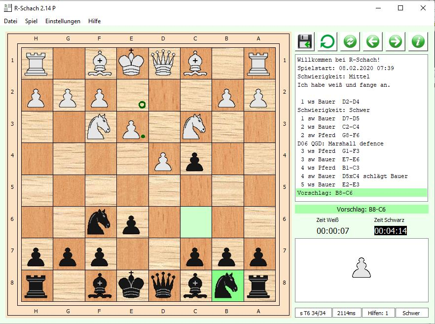 Freeware-Schach full screenshot